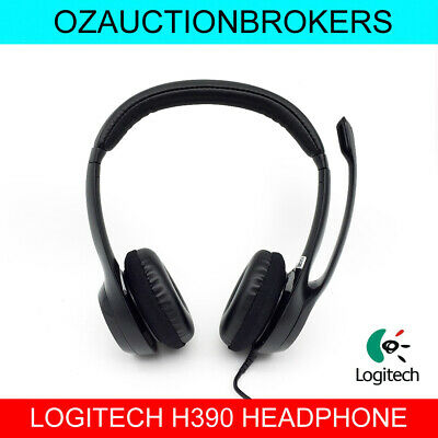 LOGITECH H390 USB Noise Cancelling Headset With Microphone 2 YR Warranty New