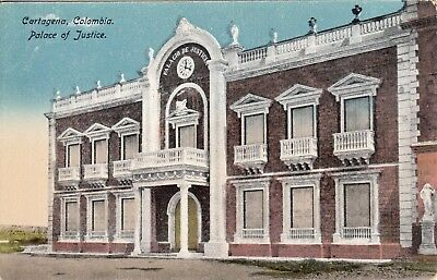OLD POST CARD carte postale COLOMBIE COLOMBIA CARTAGENA palace of justice