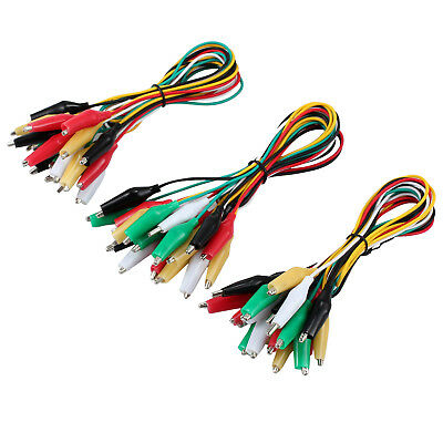 30 X Test Leads with Alligator Clips Set Insulated Test Cable Double-ended Clips