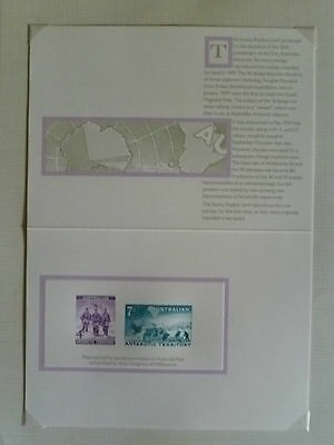 Australia Post Office - 1959 AAT Unissued Stamps (Replica Card)