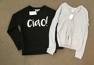 NWT Girls Target Silver Cardigan $25 And Black Tilii (MYER) Jumper $44.95 Sz 16