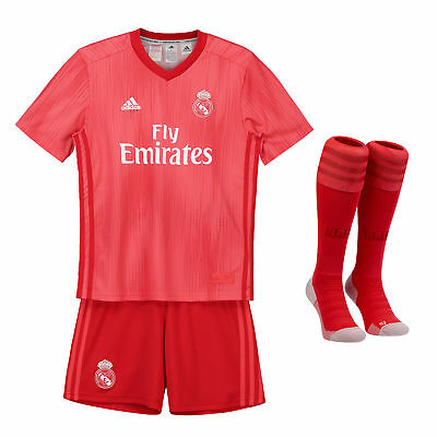 Official Real Madrid Third Kids Kit 2018 19 Shirt Shorts Jersey Suit Football ad
