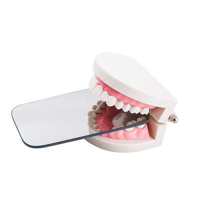 2-sided Dental Intraoral Orthodontic Photographic Glass Mirror Rhodium Occlusal