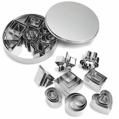 24Pcs/Set Stainless Steel Cookie Biscuit Fondant Cake Cutter Mold Baking Tools