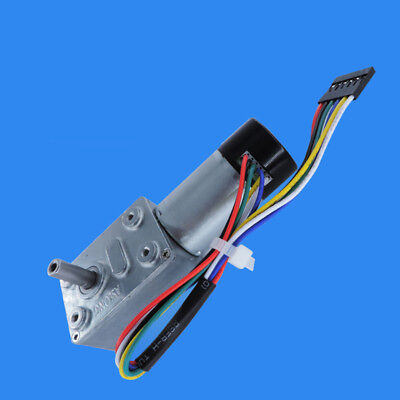 1pcs DC12V JGY370GB Turbo Worm Gearbox Speed Reduction Gear Motor with Encoder