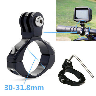 31.8mm Bike Aluminum Handlebar Bar Standard Mount Clamp fit GoPro HD Hero 5/4/3+