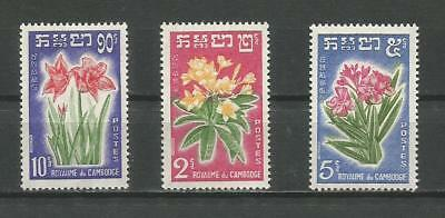 Cambodge - Timbres Neufs - Fleurs