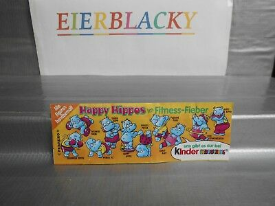 """ Rare "" Bpz "" Happy Hippos Fitness "" Original """
