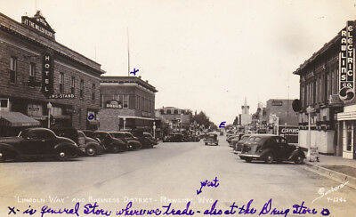 """RP: """"Lincoln Way"""" , Business District , RAWLINS , WYOMING , 30-40s ; Sanborn Y-1"""