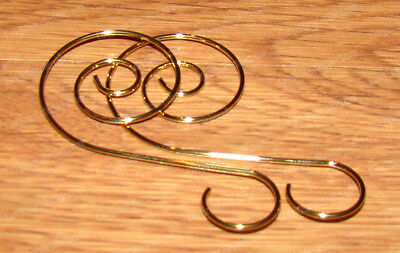 Gold Swirled Holiday Ornament Hook's (W5130) 30 Pieces, 2in.