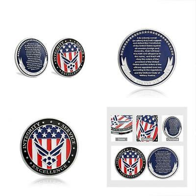 US Air Force Oath Enlistment Challenge Coin Airman's Gifts