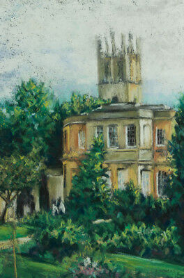 A. Thomas - Signed Mid 20th Century Pastel, Mansion View