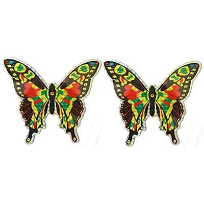 CC52071 Large Multi Colored Butterfly Door Screen Saver Bundle (Pack Of 2)
