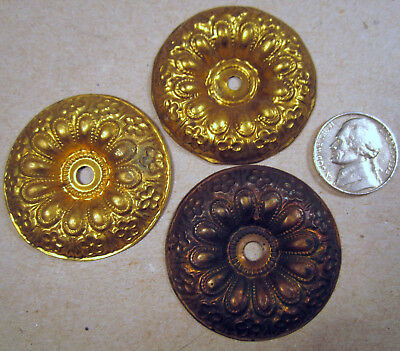 Antique Escutcheon Plate Dresser Cabinet Drawer Pull Door Backer Plate Old Lot