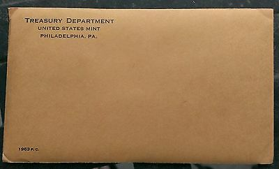 1963 Philadelphia Us Mint Uncirculated Silver Proof Set Sealed Never Opened L@@k
