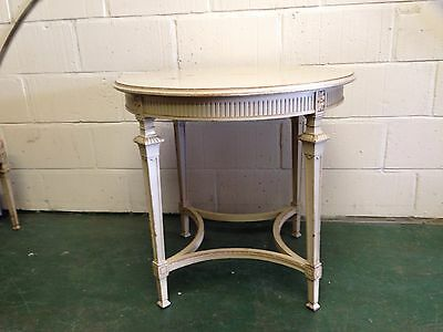 A GOOD 19th CENTURY FRENCH PAINTED CIRCULAR OCCASIONAL TABLE