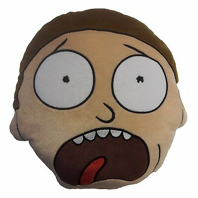 Official Rick and Morty Super Soft Plush Filled Cushion Boys Fans Gift Present
