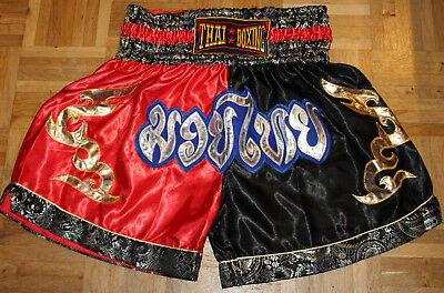 MUAY THAI Shorts Gr. L kickboxen K1 Hose Boxen King Short BJJ MMA UFC Satin Top