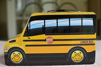 Thomas Built Buses Bus Shaped Metal Lunch Box Of The Saf-T-Liner C2 Model