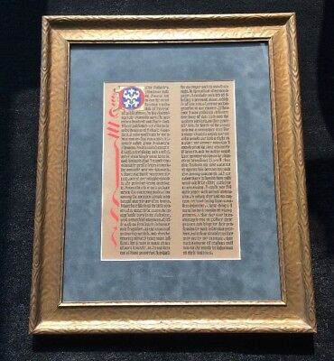 Benjamin Franklin Illuminated Page printed on Gutenberg Press | Poor Richard's