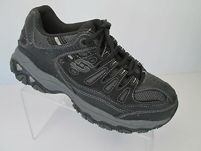 cheap price first look outlet store sale SKECHERS AFTERBURN 50125 Shoes Mens SZ 8.5 EWW Memory Foam Sneakers Black