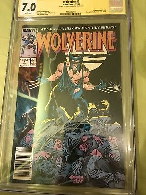 Wolverine #1 1988 CGC Grade 7.0 Signed By Chris Claremont
