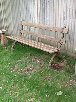 Antique Garden Bench .Victorian genuine £150 bargain