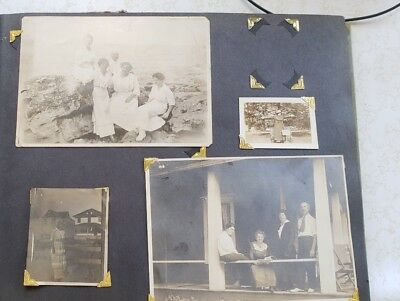 Vintage Family Photo Album with 70 Black & White Photos 1930 s - 1960 s