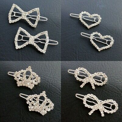 Matching Pet Dog Cat Hair Clips Puppy Bling Crystal Hairpin Bows Hair Accessory