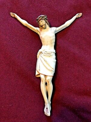 Mid 19Th Century French Corpus Of Jésus Christ Carved Wood Ca. 1860