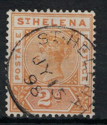 ST. HELENA, QV 1896, SG49, 2d, FINE USED, CAT £13.