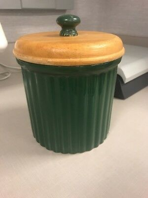 Preferred Stock Crock Canister With Lid, Forest Green