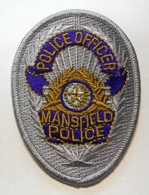 Mansfield Texas Police Vest Hat Patch Unused