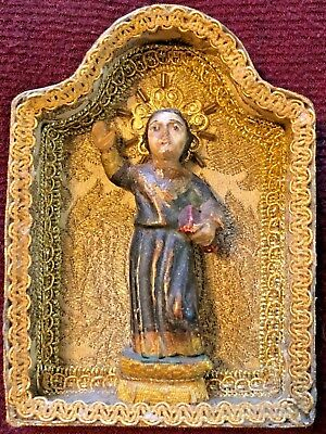 Amazing Antique 19Th Century Carved And Polychromed Young Jésus Christ