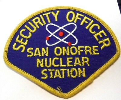 San Onofre Nuclear Station California Security Officer Patch Unused