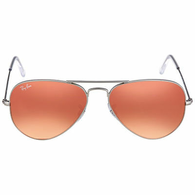 Ray-Ban Aviator Classic RB 3025 019 Z2 Matte Silver Sunglasses Pink Flash  55mm efb561873473