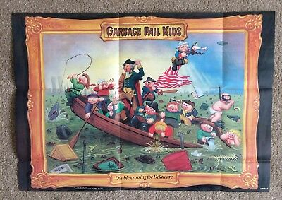 1986 Garbage Pail Kids Poster ~ Double Crossing The Delaware #10~ Vintage ~Topps