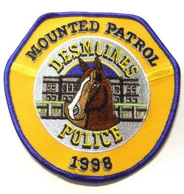 Des Moines Iowa Police Mounted Patrol Horse Patch Unused