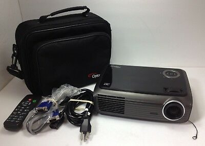 Optoma EP721 DLP Display Projector 455 Lamp Hours W/ Remote, Case, & Cords