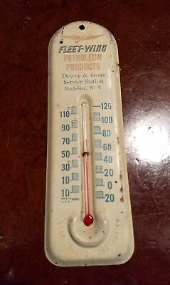 Fleet-Wing Petroleum Products Thermometer, Dewey & Stone Service, Rochester NY
