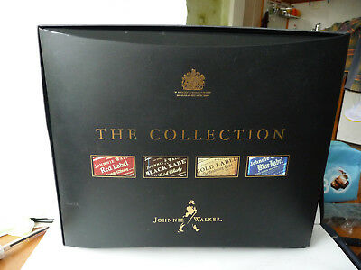 The Collection Johnnie Walker Red Black Gold Blue Label 4x 200ml used empty rare