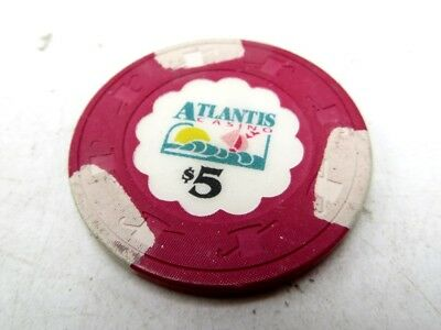 Casino Chip - Atlantis Casino, $5
