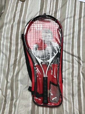 Wilson tennis racket white/red great condition in carry bag