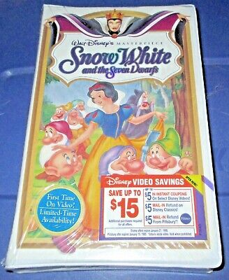 NEW Disney VHS Masterpiece SNOW WHITE and The SEVEN DWARFS (1994) Sealed