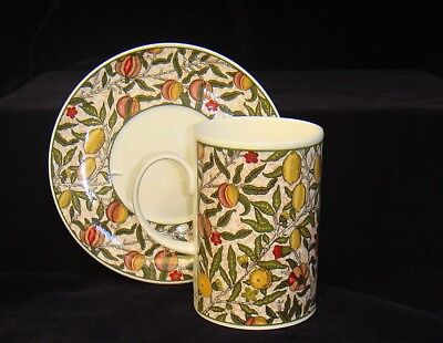 DUNOON Cup & Saucer 'POMEGRANATE' from a design by William Morris