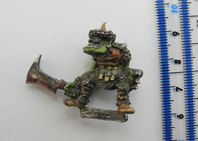 ORC (a) Metal Classic Orcs & Goblins Army Painted Warhammer Citadel 1980s 20