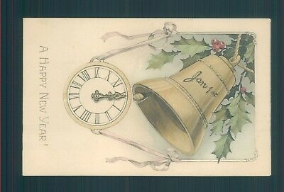 New year clock and bell