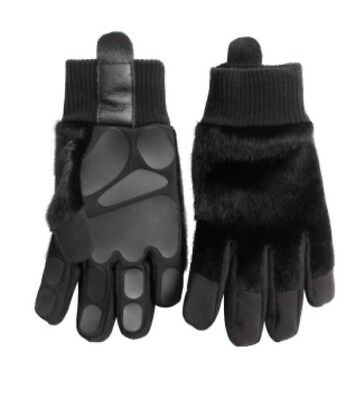 H&M UNICEF All For Children Collection Bear Paws Faux Fur Gloves Black 6 8