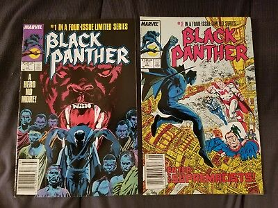 Marvel Black Panther #1 & 2 Vg Condition July Aug 1988 Comic Books
