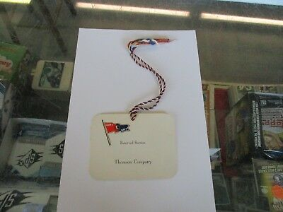 "WWII Army Navy ""E"" Production Award THOMSON COMPANY Reserved Section Tag"